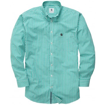 The Goal LIne Shirt - Kelly Green Gingham
